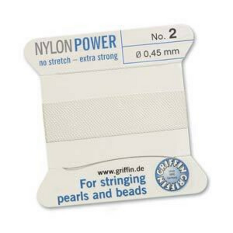 GRIFFIN NYLON  CORD WHITE SIZE 2