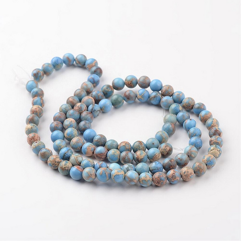 Natural Stone Beads - Regalite Cornflower Blue