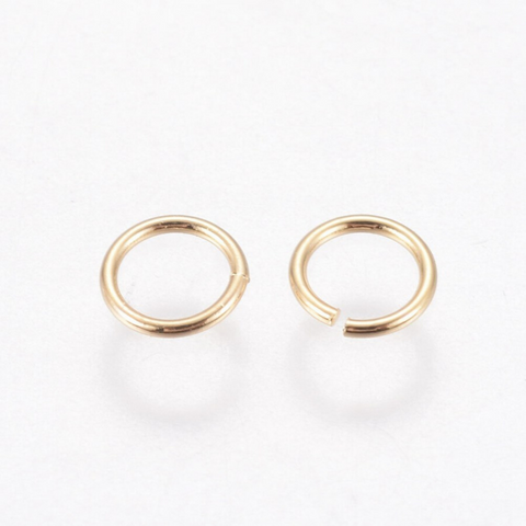 18k Gold Plated Jump Rings