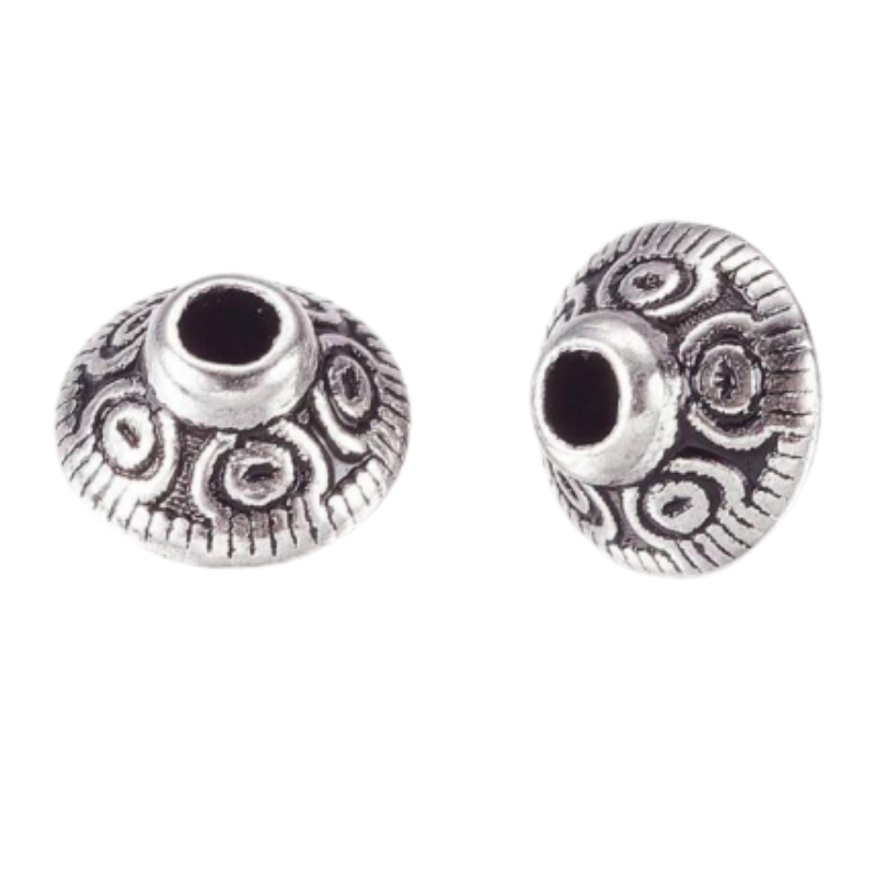 Tibetan Style Antique Silver Bicone Alloy Spacers Bead