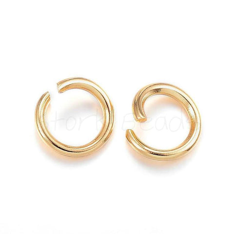 304 Stainless Steel Jump Rings, Open Gold Jump Rings,  Findings