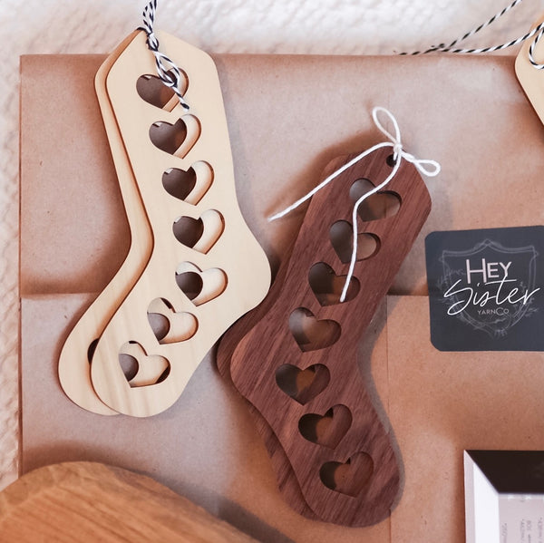 Wooden Baby Sock Blockers