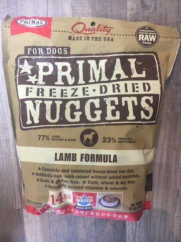 Primal FD Dog Lamb Nugget 14oz