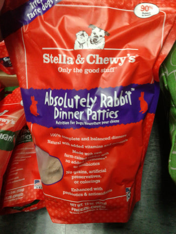 Stella & Chewy's Dog FD Rabbit Dinner Patties 5.5oz