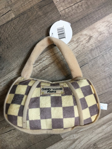 Chewy Vuitton Checkered Bag