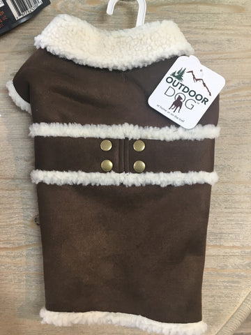 Fashion Pet Shearling Coat Brown XSM