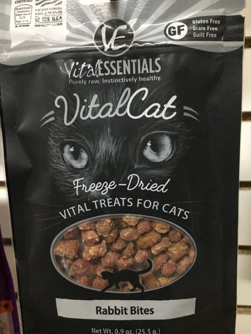 Vital Essentials FD Cat Rabbit Bites Treat 0.9oz