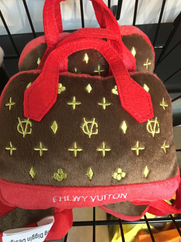 Chewy Vuitton Red Trim Bag Large