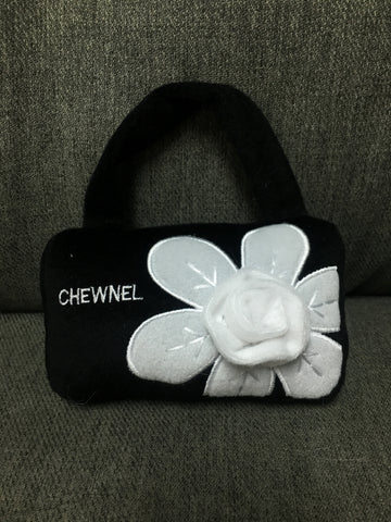 Black Chewnel bag with white flowers