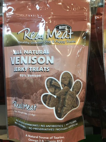 The Real Meat Company Venison Treat Dog 4z