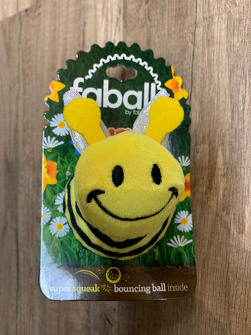 FabDog Bumble Bee Ball (small)