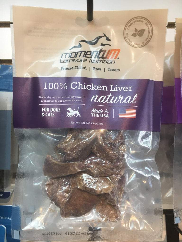 Momentum Carnivore Nutrition Chicken Liver 1 Oz Twin Tails Market Barkery