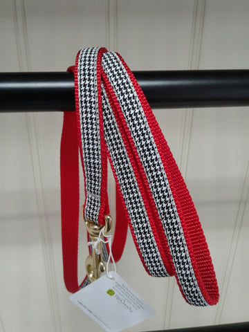 Up Country 4' narrow black houndstooth leash