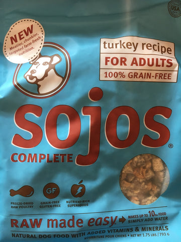 Sojo's Dog Complete Adult Turkey 1.75 Lbs.
