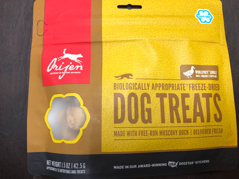 Orijen Dog Treat Free-Run Duck 1.5oz