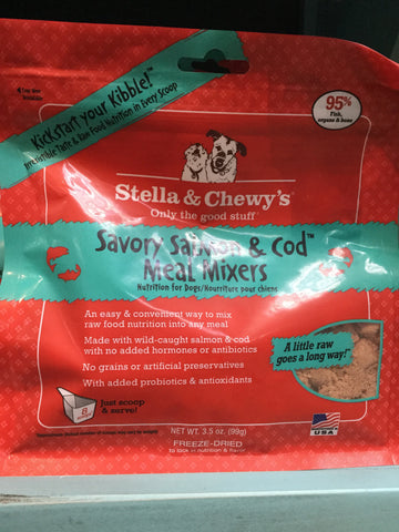 Stella & Chewy's Dog FD Meal Mixers Salmon/Cod 8.0oz
