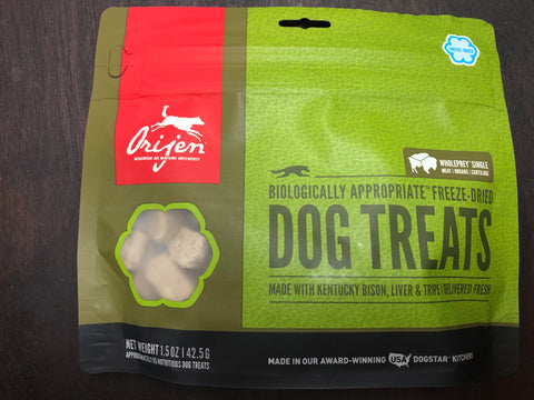 Orijen Dog Treat Kentucky Bison 1.5oz