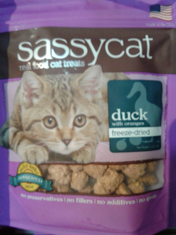Sassy Cat Treats FD Duck/Orange 1.25oz