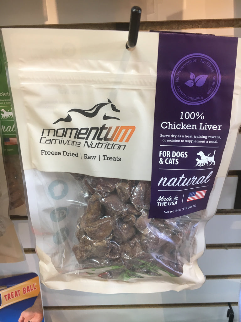 Momentum Carnivore Nutrition Chicken Liver 4 Oz Twin Tails Market Barkery