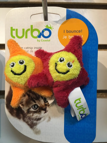 Turbo Cat Toy Bouncing Stars 2-pack