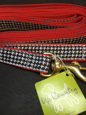 Up country 6' wide classic houndstooth dog lead