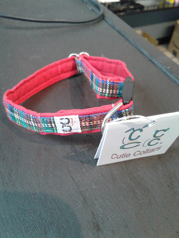 Cutie Collars cat collar royal tartan 12""