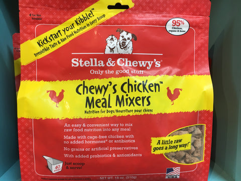 Stella & Chewy's Dog FD Meal Mixers Chicken 18.0oz