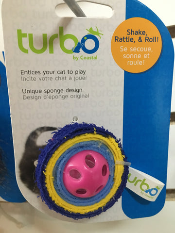 Turbo Cat Toy EVA toy with bell