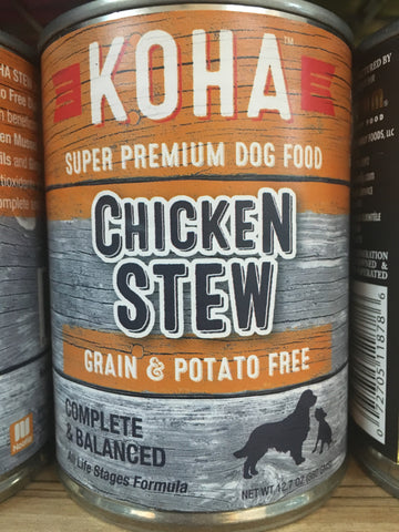 Koha Dog Grain Free Chicken Stew 12.7oz