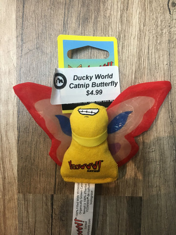 Ducky World Catnip Butterfly (red)