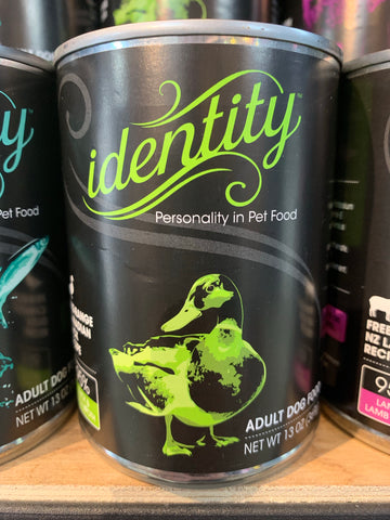 Identity Dog Cage-Free Canadian Duck 95% Can 13oz.