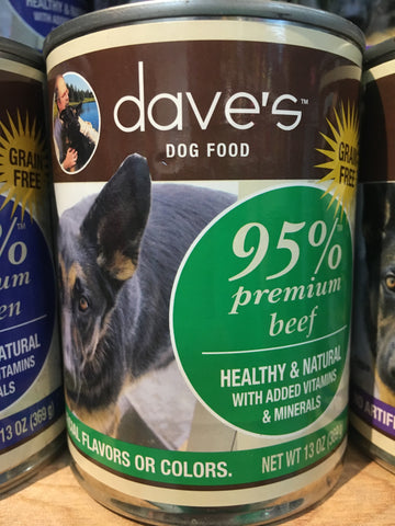 Dave's Pet Food 95% Premium Beef 13 oz