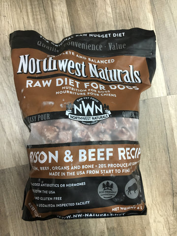 Northwest Naturals Frozen Beef/Bison Nuggets (6 Lbs)