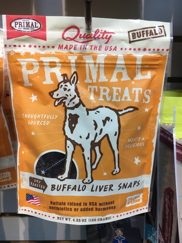 Primal Dog Treats Buffalo Liver Snap 4.25oz