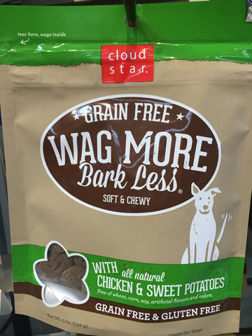 Cloudstar GF wag more treat chicken/sweet potato 5oz