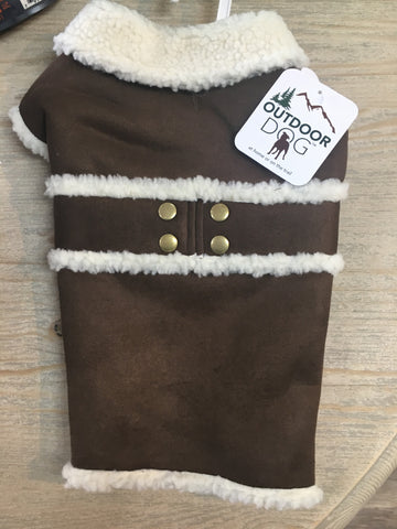 Fashion Pet Shearling Coat Brown SML