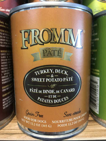 Fromm Gold Dog GF Turkey, Duck & Sweet Potato can 12oz
