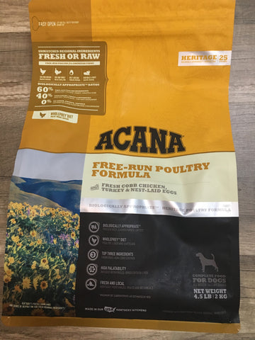 Acana Heritage Free Run Poultry 4.5#