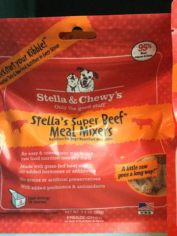 Stella & Chewy's Dog FD Meal Mixers Beef 3.5oz