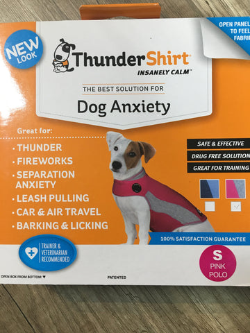 Thundershirt Dog Pink Polo Small