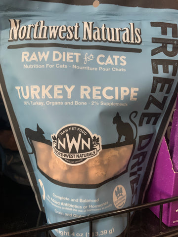 Northwest Naturals FD Cat Turkey Nibbles (4oz)