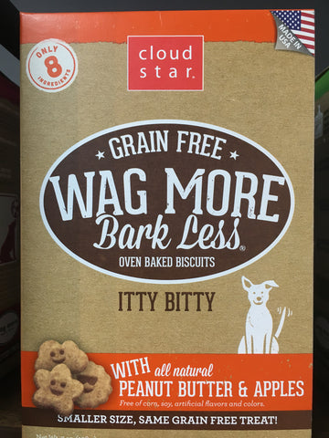 Cloudstar GF wag more biscuits pb/apple 7oz