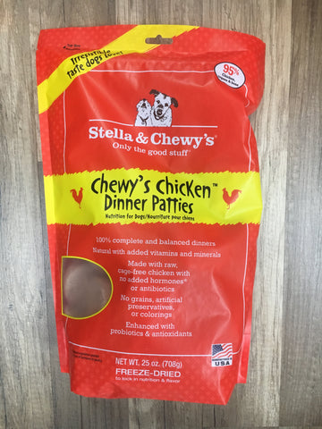 Stella & Chewy's Dog FD Chicken Dinner Patties 25oz