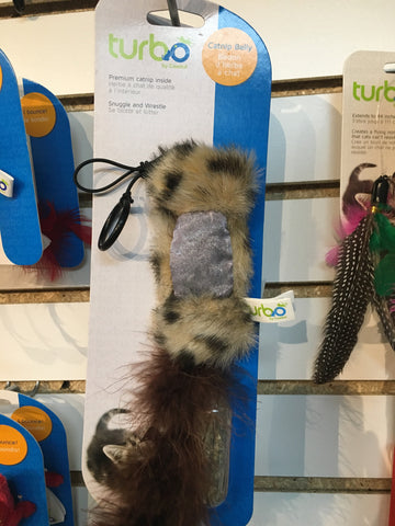 Turbo Cat Toy Catnip Belly Squirrel
