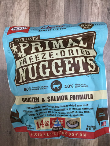 Primal FD Cat Chicken/Salmon Nugget 14oz