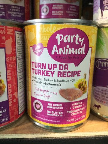Party Animal Dog GF Turn Up Da Turkey can 13oz