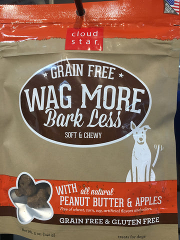 Cloudstar GF wag more treat pb/apple 5oz