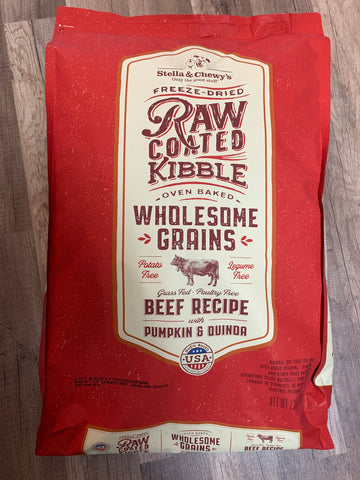 Stella & Chewy's Dog Raw-Coated Beef & Wholesome Grains (22 Lbs)
