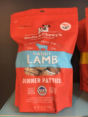 Stella & Chewy's Dog FD Lamb Dinner Patties 25oz