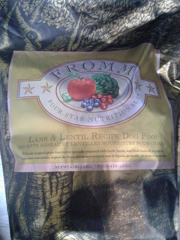 Fromm Dog Lamb & Lentil 12lbs
